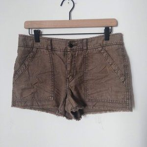 Free People Olive Green Frayed shorts